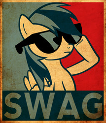 Size: 3504x4075 | Tagged: safe, artist:fr3zo, artist:j-brony, rainbow dash, female, hope poster, solo, swag