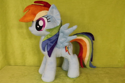 Size: 2256x1504   Tagged: safe, artist:whitedove-creations, rainbow dash, commission, custom, irl, photo, plushie, solo
