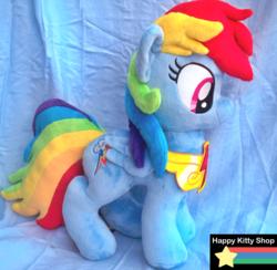 Size: 900x880 | Tagged: safe, artist:happykittyshop, rainbow dash, irl, photo, plushie, solo