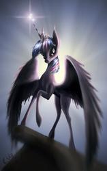 Size: 1000x1594 | Tagged: safe, artist:akurion, twilight sparkle, alicorn, pony, female, mare, solo, twilight sparkle (alicorn)