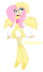 Size: 1102x1808 | Tagged: artist:jaquelindreamz, crossover, fluttershy, nights, nights into dreams, safe, solo