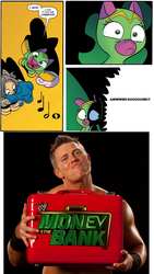 Size: 774x1376 | Tagged: cheerilee, cloverleaf, safe, spoiler:comic, spoiler:comic29, surprise entrance meme, the miz, wrestling, wwe