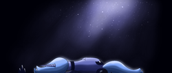 Size: 1000x428 | Tagged: artist:poshpete117, both cutie marks, dust, laying down, princess luna, safe, side, solo