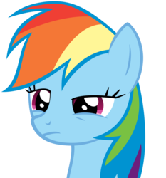 Size: 4000x4289 | Tagged: safe, artist:orschmann, rainbow dash, .psd available, bust, confused, simple background, solo, transparent background, unamused, vector