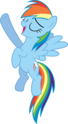 Size: 3283x6000 | Tagged: safe, artist:slb94, rainbow dash, tanks for the memories, beautiful, female, i'll fly, pose, simple background, singing, solo, transparent background, vector