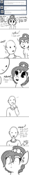 Size: 840x5060 | Tagged: safe, artist:tjpones, oc, oc only, oc:brownie bun, oc:richard, human, horse wife, :o, ask, cute, frown, horse noises, horses doing horse things, lost in translation, moment killer, monochrome, neigh, onomatopoeia, open mouth, smiling, translation, truth, tumblr, vomit, whinny, wide eyes, you're not wrong