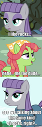 Size: 669x1992 | Tagged: safe, maud pie, tree hugger, earth pony, pony, make new friends but keep discord, drugs, engrish, female, implied crack, lesbian, maudhugger, shipping, tree stoner