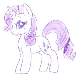 Size: 1280x1273 | Tagged: safe, artist:pegacornss, rarity, pony, unicorn, cute, female, mare, monochrome, profile, raribetes, solo
