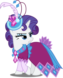 Size: 4000x4970 | Tagged: safe, artist:xebck, rarity, pony, unicorn, make new friends but keep discord, clothes, dress, female, gala dress, grand galloping gala, mare, simple background, solo, transparent background, vector