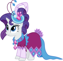 Size: 6000x5786 | Tagged: safe, artist:magister39, rarity, make new friends but keep discord, absurd resolution, alternate hairstyle, clothes, dress, female, gala dress, simple background, smiling, solo, transparent background, vector
