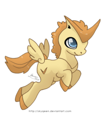 Size: 1088x1300 | Tagged: artist:mysweetqueen, crossover, pegasus, pokémon, pony, ponymon, safe, simple background, solo, transparent background, victini