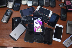 Size: 3456x2304 | Tagged: safe, princess cadance, barely pony related, iphone, nokia, phone, russian, vertu