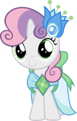 Size: 3804x6000 | Tagged: safe, artist:magister39, sweetie belle, make new friends but keep discord, c:, clothes, cute, diasweetes, dress, female, gala dress, looking at you, simple background, smiling, solo, transparent background, vector