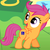 Size: 720x720 | Tagged: safe, scootaloo, cutie mark, disabled, op is a duck, scootaloo can't fly, we are going to hell, word of faust