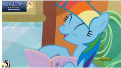 Size: 894x507   Tagged: safe, screencap, fluttershy, rainbow dash, the lost treasure of griffonstone, alternate hairstyle, mane swap, manebow sparkle