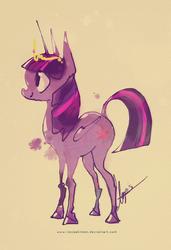 Size: 600x877   Tagged: safe, artist:iloveakitten, twilight sparkle, alicorn, classical unicorn, pony, female, leonine tail, mare, solo, twilight sparkle (alicorn)
