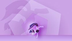 Size: 1920x1080 | Tagged: safe, artist:jeremis, artist:yanoda, edit, twilight sparkle, pony, unicorn, abstract background, dancing, eyes closed, female, flexible, glowing, mare, shadow, solo, unicorn twilight, vector, wallpaper, wallpaper edit