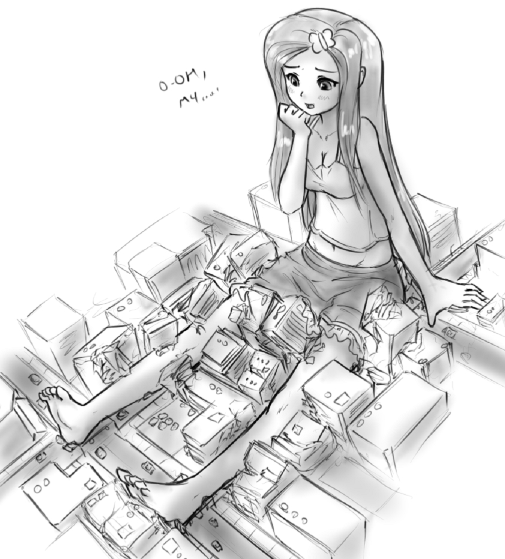Giantess drawing