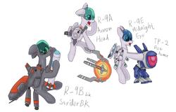 Size: 2055x1313 | Tagged: safe, artist:fameng, original species, plane pony, pony, plane, r-9a arrowhead, r-9bbk striderbk, r-9e midnight eye, r-type, r-type tactics