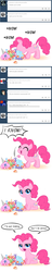 Size: 500x2620 | Tagged: artist:apzzang, ask-grow-pinkie, candy, cute, edit, filly pinkie pie, nom, pinkie pie, safe, tumblr
