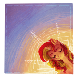 Size: 800x800 | Tagged: artist:temary03, pony, safe, solo, sunset shimmer, unicorn