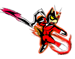 Size: 1280x1010 | Tagged: safe, artist:magello, donut joe, clothes, color, cosplay, male, solo, viewtiful joe