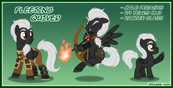 Size: 1000x509   Tagged: safe, artist:kryptid, oc, oc only, pegasus, pony, arrow, bow (weapon), bow and arrow, clothes, dungeons and dragons, solo, uniform, younger
