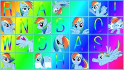 Size: 1366x768 | Tagged: safe, artist:capt-nemo, artist:daughterdragon, artist:fabulouspony, artist:kishmond, artist:littlehybridshila, artist:relaxingonthemoon, artist:shardii, artist:sierraex, artist:waranto, rainbow dash, collage, grid, vector, wallpaper