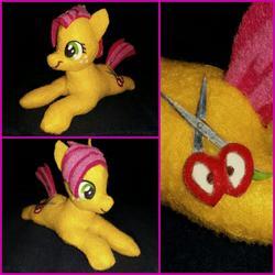 Size: 1080x1080 | Tagged: safe, artist:lucaspratt, babs seed, earth pony, pony, bloom and gloom, cutie mark, felt, irl, photo, plushie, scissors, solo
