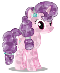 Size: 4033x4899   Tagged: safe, artist:infinitewarlock, sugar belle, absurd resolution, crystallized, cute, female, looking at you, simple background, solo, sugarbetes, transparent background, vector