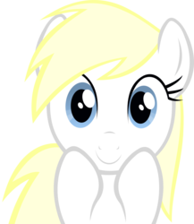 Size: 1370x1575   Tagged: safe, artist:accu, oc, oc only, oc:aryanne, anticipation, big eyes, cute, happy, hooves on face, simple background, smiling, solo, spooky, stare, transparent background, vector
