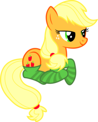 Size: 5910x7350   Tagged: safe, artist:cencerberon, applejack, appleoosa's most wanted, .svg available, absurd resolution, clothes, female, prone, show accurate, simple background, socks, solo, striped socks, transparent background, vector