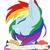 Size: 900x900 | Tagged: safe, artist:silbersternenlicht, rainbow dash, portrait, positive ponies, solo