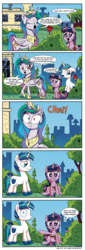 Size: 1100x3235   Tagged: safe, artist:daniel-sg, princess celestia, shining armor, twilight sparkle, blame game, blatant lies, brother and sister, colt, colt shining armor, comic, everything is ruined, female, filly, filly twilight sparkle, i can't believe it's not idw, male, rose, siblings, wrong cutie mark, younger