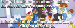 Size: 752x286 | Tagged: ball pit, canterlot, dashcon, extra hour, fancypants, fluffy clouds, image macro, march gustysnows, meme, princess spike (episode), safe, screencap, spike, tropical dream