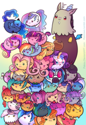 Size: 950x1388 | Tagged: dead source, safe, artist:pekou, apple bloom, applejack, babs seed, berry punch, berryshine, big macintosh, bon bon, carrot top, cheerilee, derpy hooves, discord, dj pon-3, doctor whooves, fluttershy, gilda, golden harvest, lyra heartstrings, maud pie, minuette, octavia melody, pinkie pie, princess cadance, princess celestia, princess luna, queen chrysalis, rainbow dash, rarity, scootaloo, shining armor, spike, spitfire, sunshower raindrops, sweetie belle, sweetie drops, time turner, trixie, twilight sparkle, vinyl scratch, alicorn, bat pony, changeling, changeling queen, draconequus, dragon, earth pony, griffon, nymph, pegasus, pony, unicorn, :p, ><, adorababs, adorabon, alicorn tetrarchy, baby, baby dragon, berrybetes, bow, cheeribetes, chubbie, cute, cutealis, cuteamena, cutedance, cutefire, cuteling, cutie mark crusaders, cutie top, derpabetes, diabetes, discute, doctorbetes, drunk, eyes closed, female, filly, flutterbat, foal, food, gildadorable, glasses, gradient background, hair bow, hat, lyrabetes, macabetes, male, mane seven, mane six, mare, maudabetes, minubetes, muffin, one eye closed, open mouth, pinkamena diane pie, pony pile, race swap, shining adorable, shyabates, shyabetes, smiling, stallion, tavibetes, tongue out, twilight sparkle (alicorn), vinylbetes, wall of tags