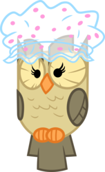Size: 2170x3568 | Tagged: safe, artist:porygon2z, owlowiscious, hat, shower cap, simple background, solo, transparent background, vector