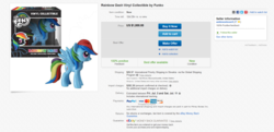 Size: 1550x750 | Tagged: ebay, expensive, funko, rainbow dash, safe, toy