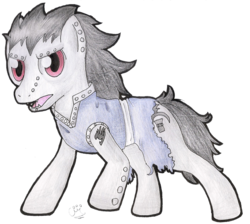 Size: 1317x1179 | Tagged: safe, artist:celecrypt, dracony, fairy tail, gajeel redfox, ponified, simple background, solo, traditional art, transparent background