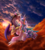 Size: 997x1115   Tagged: safe, artist:stepandy, discord, princess celestia, alicorn, draconequus, pony, dislestia, eyes closed, female, kissing, male, shipping, straight, watermark