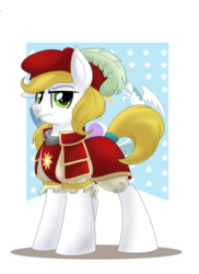 Size: 1440x1980 | Tagged: safe, artist:anarchemitis, artist:itstaylor-made, oc, oc only, oc:star lily, clothes, flag, hat, simple background, solo, transparent background