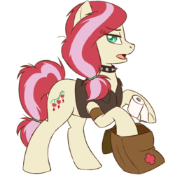 Size: 1500x1500 | Tagged: safe, artist:floots, oc, oc only, oc:bleeding heart, earth pony, pony, fallout equestria, medic, raider, solo