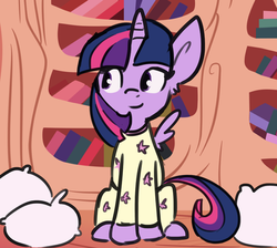 Size: 647x581 | Tagged: safe, artist:deeriojim, artist:tjpones, twilight sparkle, alicorn, pony, clothes, colored, female, mare, pajamas, pillow, solo, twilight sparkle (alicorn)