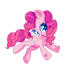 Size: 900x900 | Tagged: safe, artist:ipun, pinkie pie, earth pony, pony, colored pupils, cute, diapinkes, female, heart, heart eyes, mare, open mouth, simple background, solo, transparent background, wingding eyes