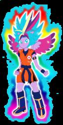 Size: 2036x4000 | Tagged: safe, artist:gonzalossj3, twilight sparkle, equestria girls, crossover, dragon ball z, ponied up, rainbow power, super saiyan blue, super saiyan god super saiyan, super saiyan princess, super saiyan princess super saiyan