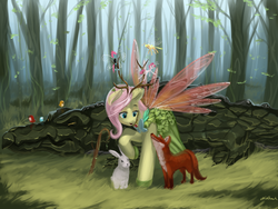 Size: 1024x768 | Tagged: antlers, applebreezie, applejack, artist:chickhawk96, bird, breezie, breeziefied, breezie pie, clothes, cragadile, crocodile, dress, element of kindness, elements of harmony, fluttershy, fox, gala dress, insect wings, open mouth, pinkie pie, rabbit, raised hoof, safe, seabreeze, smiling, species swap