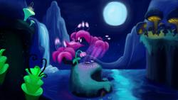 Size: 3840x2160   Tagged: safe, artist:unsavorydom, princess luna, do princesses dream of magic sheep, dream, female, luna's dream, sleeping, solo, surreal