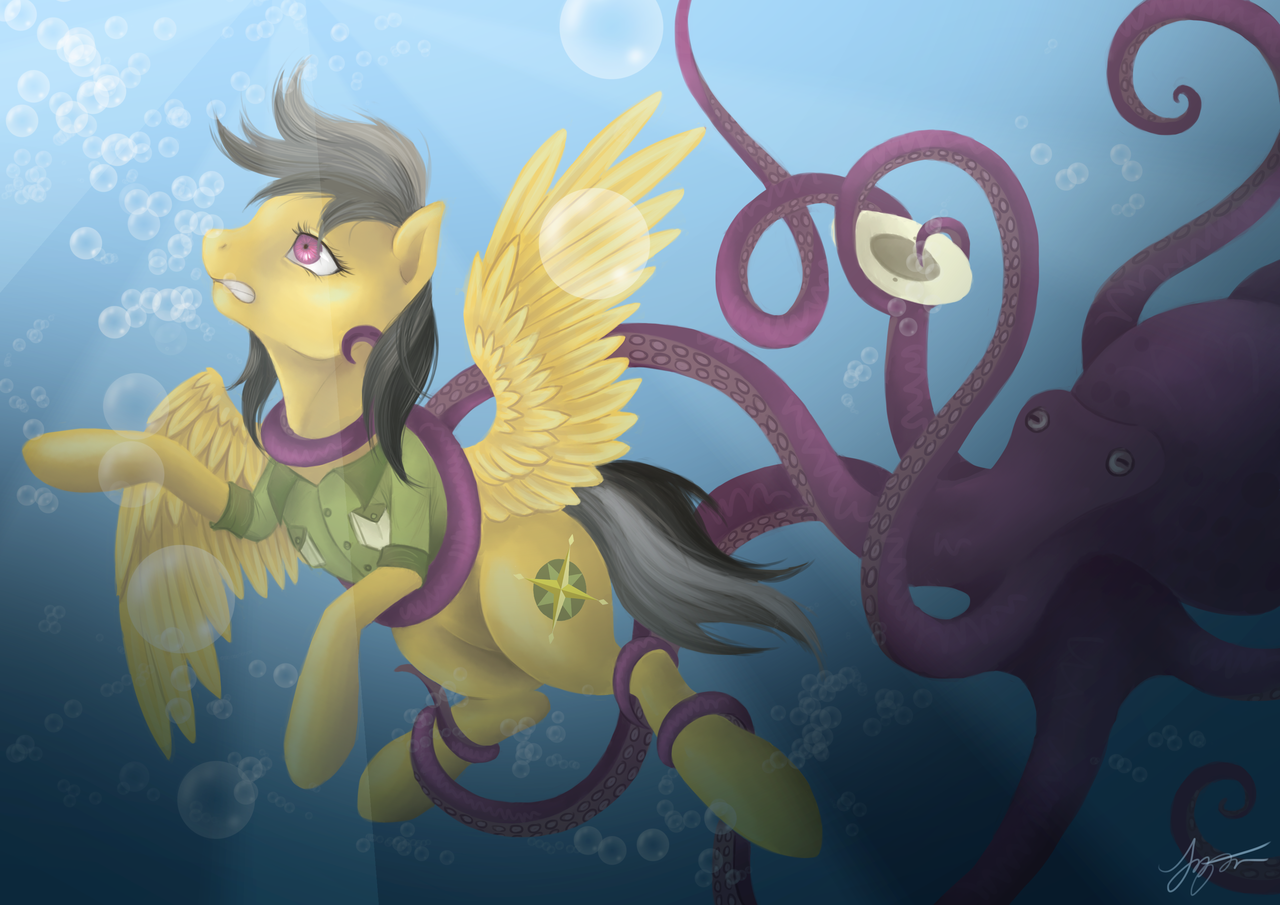 Bad onion hentai 21 #935809 - artist:katyand, asphyxiation, daring do, drowning, i've seen enough hentai to know where this is going, octopus, safe, solo, ...