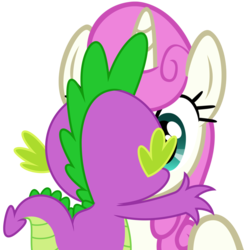 Size: 1079x1107 | Tagged: safe, artist:dashiesparkle, artist:likonan, hundreds of users filter this tag, vector edit, spike, twinkleshine, female, kissing, love, male, shipping, simple background, straight, transparent background, twinklespike, vector
