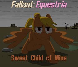 Size: 1400x1200 | Tagged: safe, artist:salted pingas, edit, oc, oc only, oc:healthy skies, pegasus, pony, fallout equestria, fallout equestria: sweet child of mine, beaten up, cover, cover art, enclave, equestrian wasteland, fanfic art, female, grand pegasus enclave, mare, pregnant, scared, text, vector, wip
